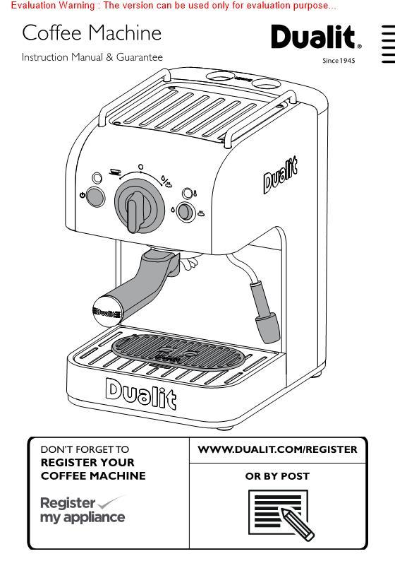 Dualit Dl999 Dualit 3 In 1 Espressivo Coffee Machine